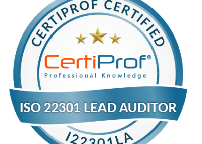 Certified ISO 22301 Lead Auditor