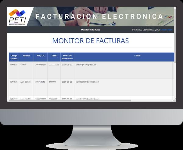 PETI Monitor Facturas Electronicas