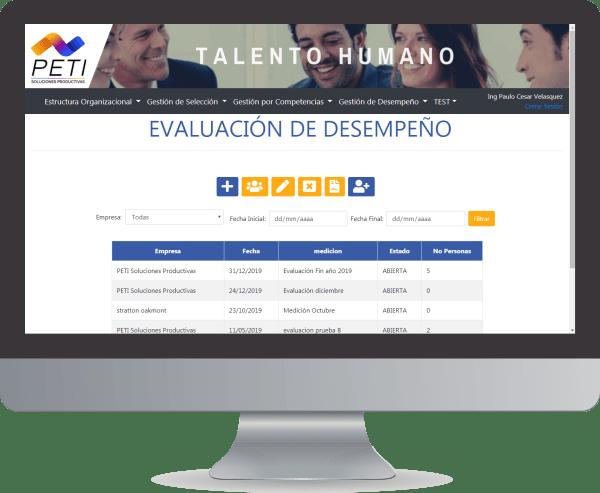 PETI Talento 360 Evaluacion desempeno