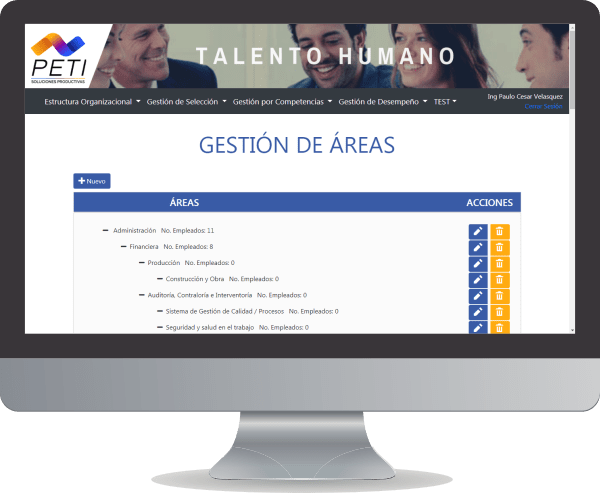 PETI Talento 360 Gestion Areas