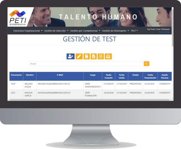 PETI Talento 360 Gestion Test