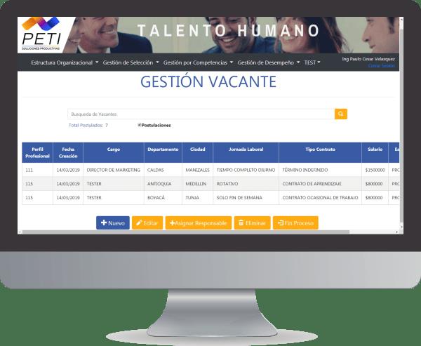 PETI Talento 360 Gestion Vacante